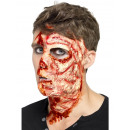 Wound burned face on map ca 29x15cm