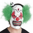 Horror Clown Mask with hair - made of latex