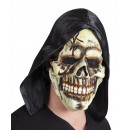 Mask skull in latex with hood