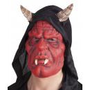 Latex Mask Devil Hooded
