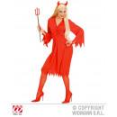 Costume diavolo (abito, cintura e corna) taglia S