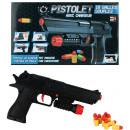 wholesale Printers & Accessories: Pistol with 10 cartridges ca 24 cm