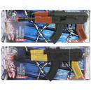 wholesale Toys: Ratter machine gun on Carte approx 38,5x14,5cm