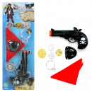 Pistol pirate with accessories - on card ca 43,5x1