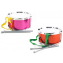 wholesale Music Instruments: Drum with belt and  2 sticks - approx 19x10,5cm