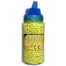wholesale Toys: Ball ammunition 2000er yellow in bottle about 17x6