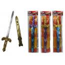 Sword with sheath multiple assorted - ca 40 cm