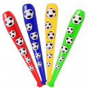 wholesale Balls & Rackets: Aufblaskeule  football 4 assorted ca 85 cm