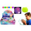 Bola globo con luz 6- veces surtido - unos 25 cm