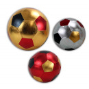 wholesale Balls & Rackets: Metallic football  on the net 3 times assorted ca 4