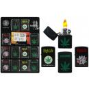 wholesale Lighters: Storm lighter,  hemp, 4 assorted - approx 5.5cm