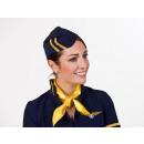 Großhandel Reiseartikel: Kappe für Flugbegleiterin, dunkelblau