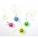 Collars with LED Smile 4-fold assorted - ca 4 cm