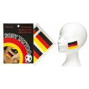 wholesale Piercing / Tattoo: Germany Tattoo Flag 4 pieces on map about 13.5
