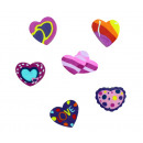 Eraser Heart by 6-fold - approx 35-45mm