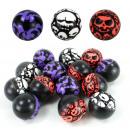Flummi Dopsball Halloween Design ca 35 mm