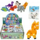 Eraser 3D animals 6-fold assorted - ca 5cm