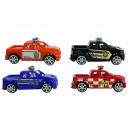 Großhandel Modelle & Fahrzeuge: Auto Polizeiauto 4-fach sortiert mit Rückzug ca 10