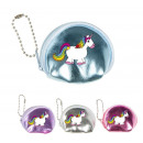 Wallet Unicorn 4 colors assorted ca 7 x 6 cm