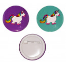 Unicorn Button for plugging 2- times assorted ca 4