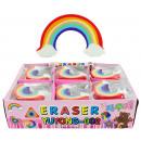 groothandel Stationery & Gifts: Eraser  regenboogkleuren ca 5x4cm