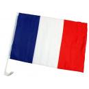 Voiture drapeau France environ 45 x 30 cm