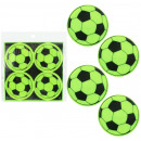 wholesale Storage media: Sticker reflective football design 4 pieces - ca 6