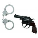 Großhandel Verkleidung & Kostüme: Pistole mit Handschellen - ca 14 cm