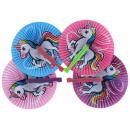 Fan unicorn design ca 25x23cm