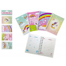 wholesale Dolls &Plush: Notebook Unicorn about 40 sheets 4- times assorted