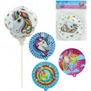 wholesale Party Items: Foil balloon self-inflating unicorn motif 4 ...