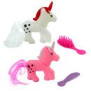 hurtownia Zabawki pluszowe & lalki: Jednorożec z akcesoriami 2 kolory mieszany ...