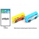 Bus con ritiro 2 colori assortito circa 8 cm
