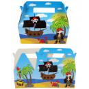 hurtownia Upominki & Artykuly papiernicze: Pudełko na prezent z menu pirat ok. 23,5x12,5x20cm