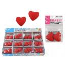 Eraser heart - about 2,5x2,5cm