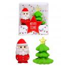 Set di 2 gomme da cancellare natalizie in scatola