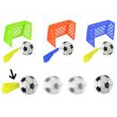 Partita di calcio con obiettivo in 3 colori assort