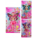 wholesale Dolls &Plush: Doll fairy 3-colored assorted on card ca 27x15cm