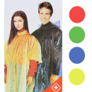 wholesale Coats & Jackets: Rain poncho emergency poncho 4 colors assorted -