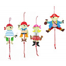 Hampelmann Pirate 4 assorted wooden - about 13,