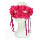 Fiori rosa maschera per gli occhi