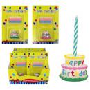 Happy Birthday Születésnapi gyertyák pite 2-szeres