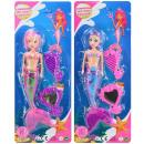 Doll Mermaid 2-sor lampeggiante con accessori