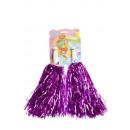Großhandel Geschenkartikel & Papeterie: Cheerleader PomPom-Paar pink - ca 32 cm