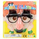 Funny glasses on map ca 19x17,5cm