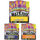wholesale Music Instruments: Harmonica 3x  assorted Map ca 18x16cm