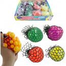 Knautschball rete colorato assortito 60 mm circa