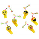 wholesale Smoking Accessories: Whistle emoticons on the band yellow with 3 LEDs a