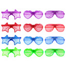 Glasses with light Goggles 12 times assorted appro