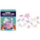 wholesale Dolls &Plush: Unicorn, Glow in the Dark, 14 pieces on card appro
